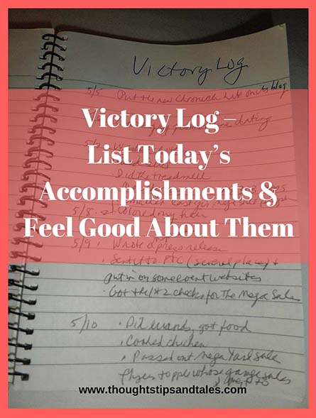 Victory Log – List Today's Accomplishments, Gain Satisfaction