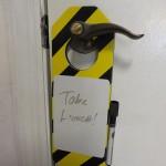 Door know reminder