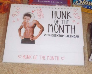 Hunk of the Month calendar 2014