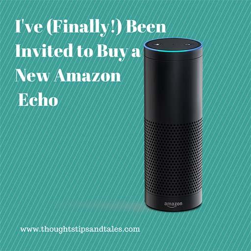 Amazon Echo Invitation to Buy