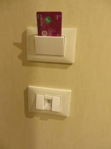 Regal Princess cardholder near door that saves energy