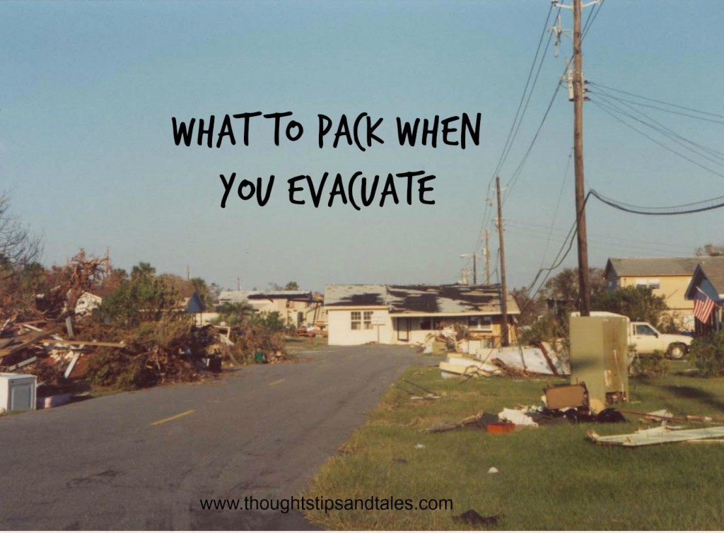 What to Pack When You Evacuate