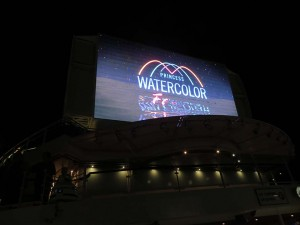 Regal Princess movies under the stars