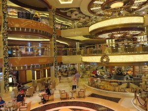 Regal Princess gold and white decor