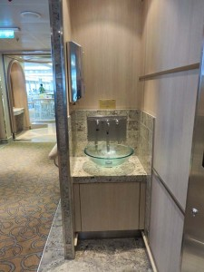 Regal Princess wash basins inside bistro area