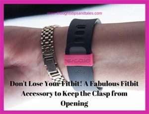 Don't lose your fitbit! A fabulous Fitbit accessory to keep the clasp from opening