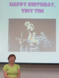 A fun library event: Tiny Tim birthday party