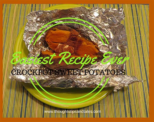 Easiest Recipe Ever: Crockpot Sweet Potatoes with Butter and Cinnamon
