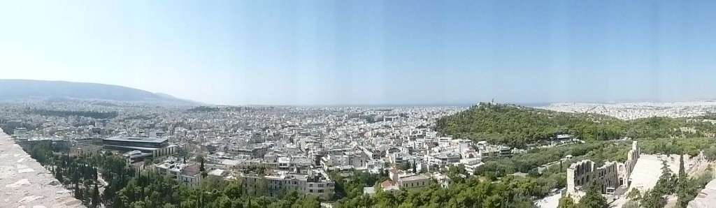 athens greece panoramic