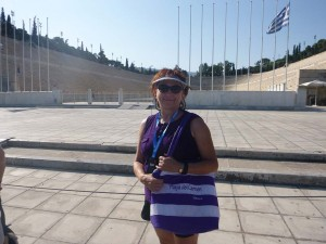 di at olympic stadium in athens