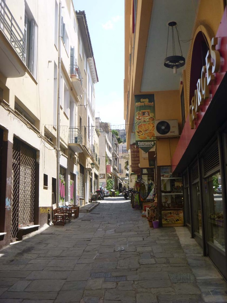 Shopping in the Plaka in athens greece