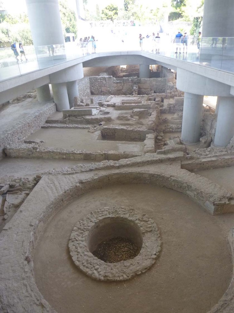 underground display at acropolis museum in athens greece