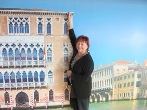 Venice airport painted scenes