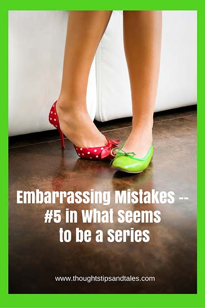 Embarrassing Mistakes -- #5 in What Seems to be a Series