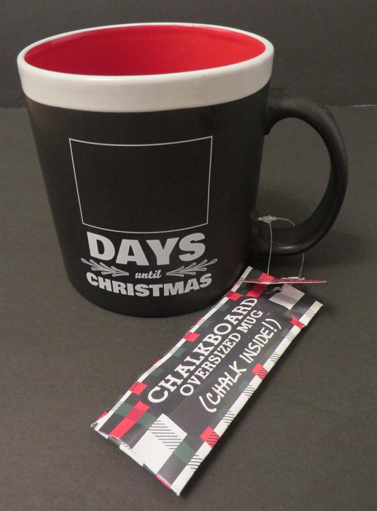 adult advent calendar gift idea: chalkboard days to christmas mug
