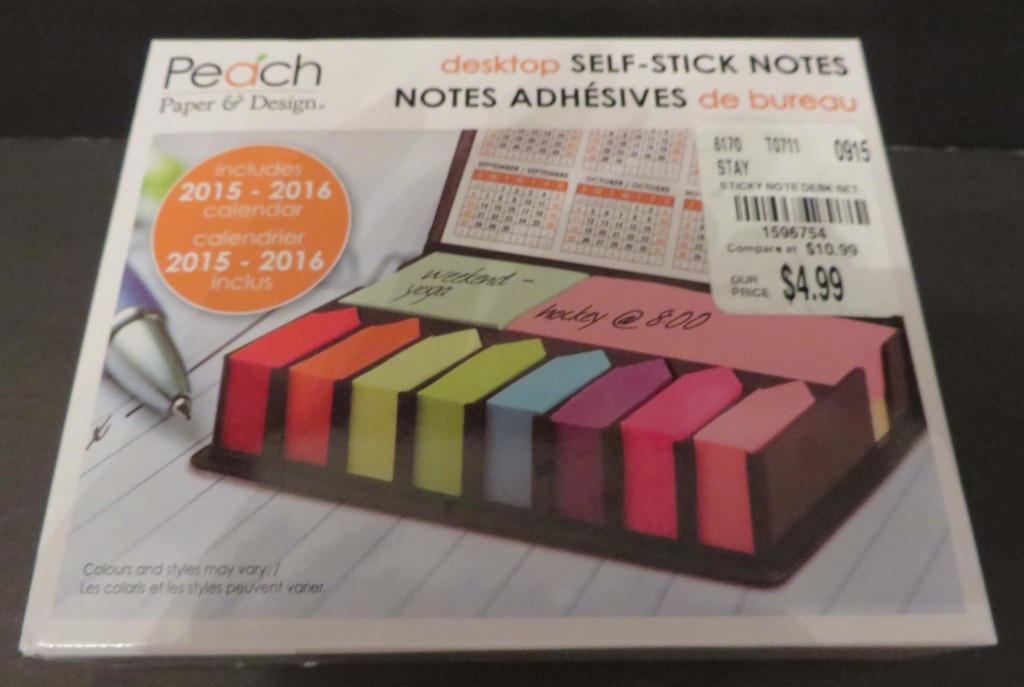 Sticky note desk holder