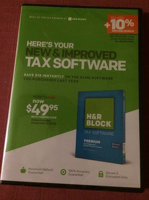 this is SO wrong dec26 income tax software received in mail
