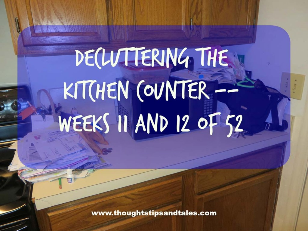 Decluttering the kitchen counter
