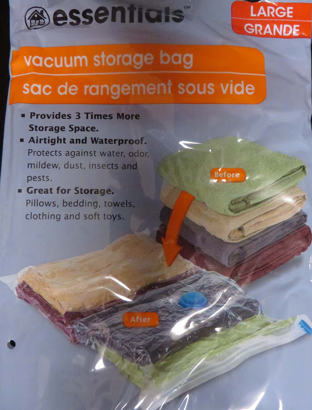 vacuum storage bags shrink bulky items thoughts tips. Black Bedroom Furniture Sets. Home Design Ideas