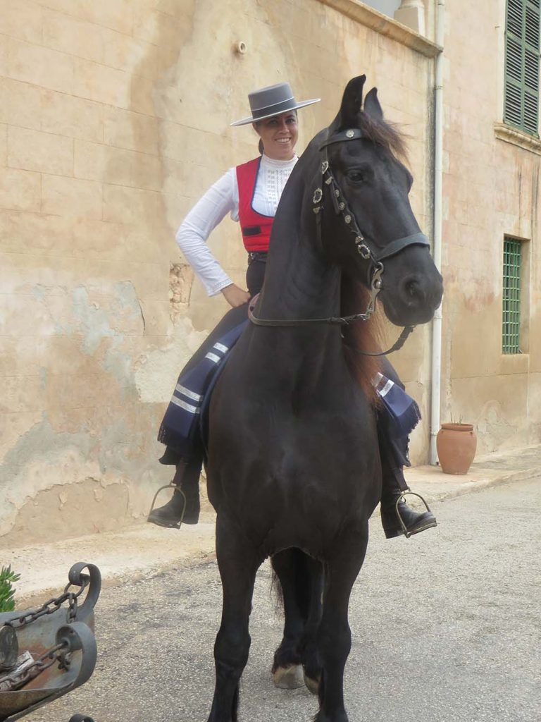 flamenco dancer on a horse in palma de majorca