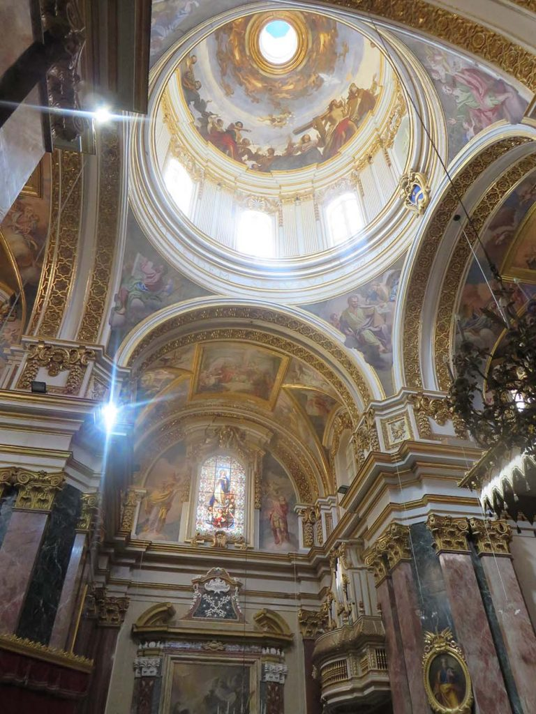 dome in Old Cathedral in Mdina Malta