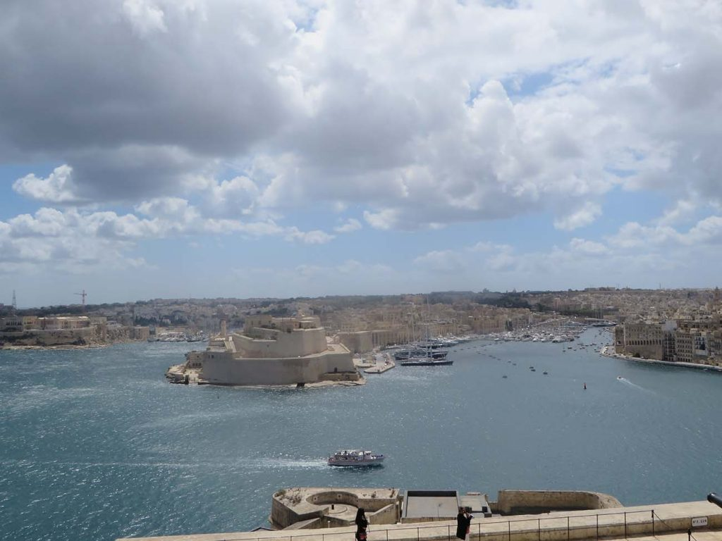 three cities seen from upper barrakka terrace in Malta