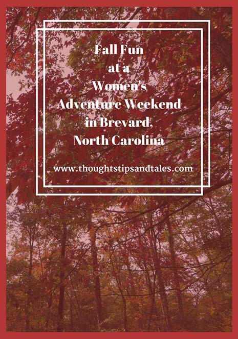 Fall Fun at a Women's Adventure Weekend in Brevard North Carolina
