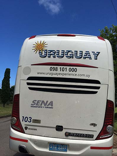 Bus tour of Punta Del Esta Uruguay