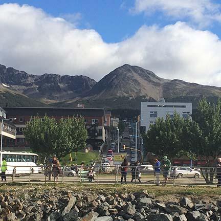Ushuaia, Argentina town view