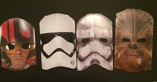 star war masks for eclipse party and costume contest