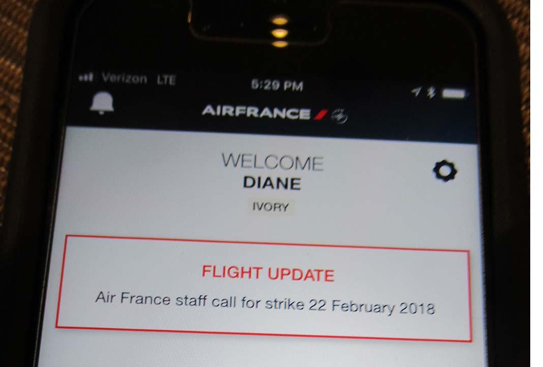 Air France strike notice