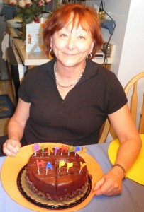Diane with Birthday cake
