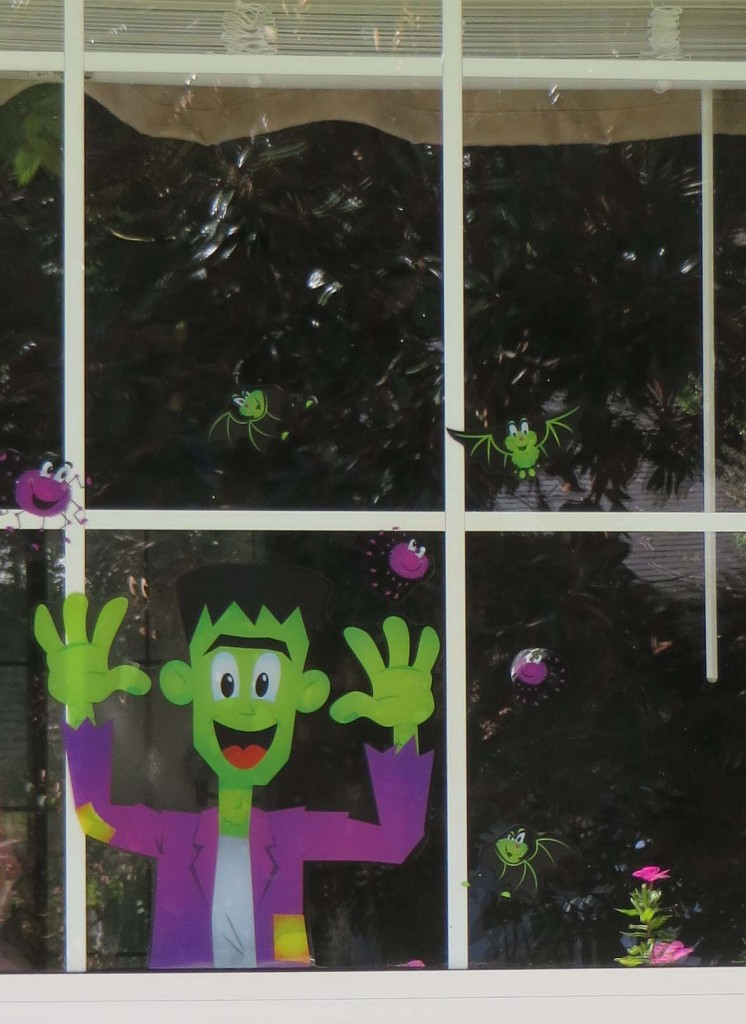 Cute Halloween Window Decorations for Only $1