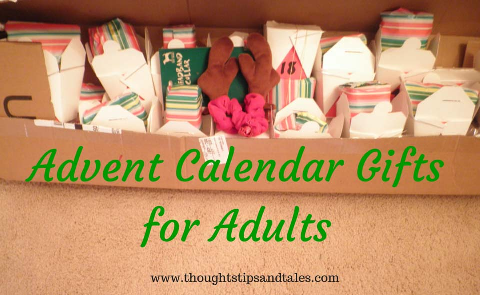 Adult Advent Calendar Gift Ideasthoughts Tips And Tales