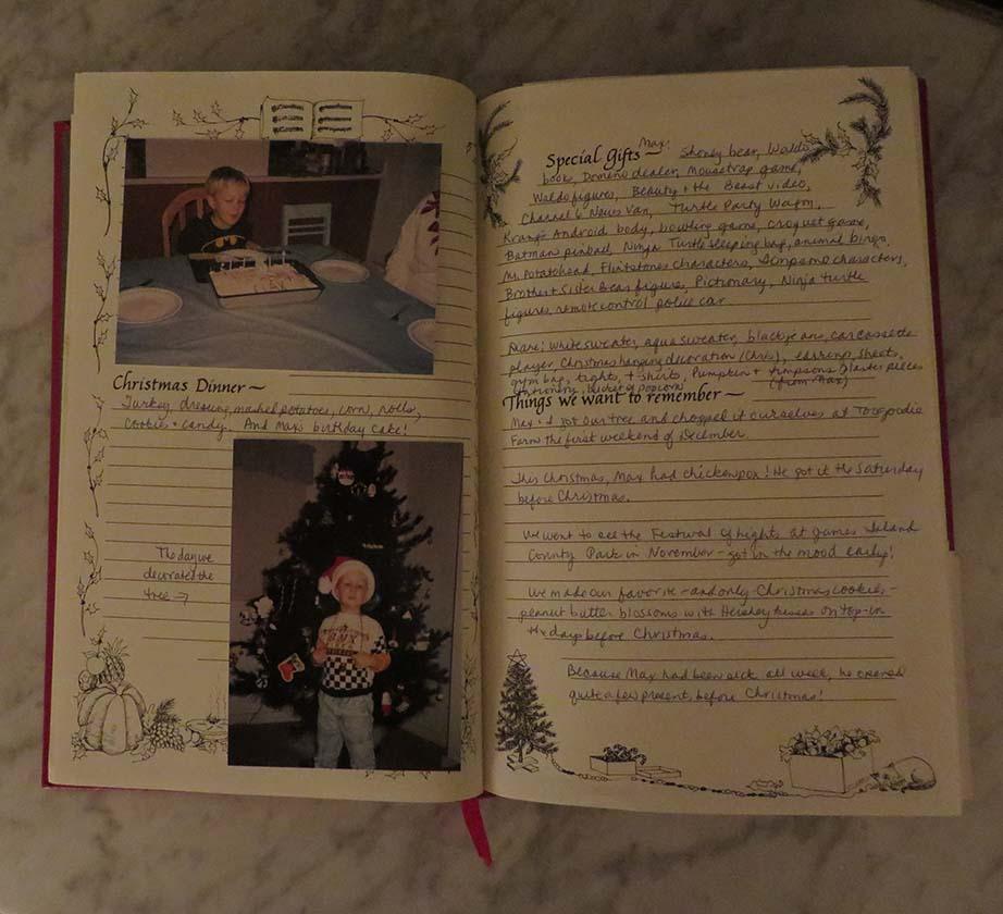 christmas_memories_book_inside - Christmas Memories Book