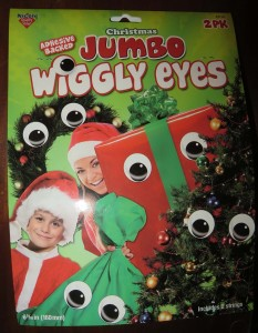 Christmas Jumbo Wiggly Eyes: Cute Holiday Decoration