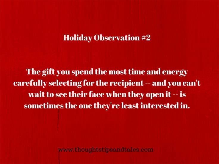 Holiday observation #2