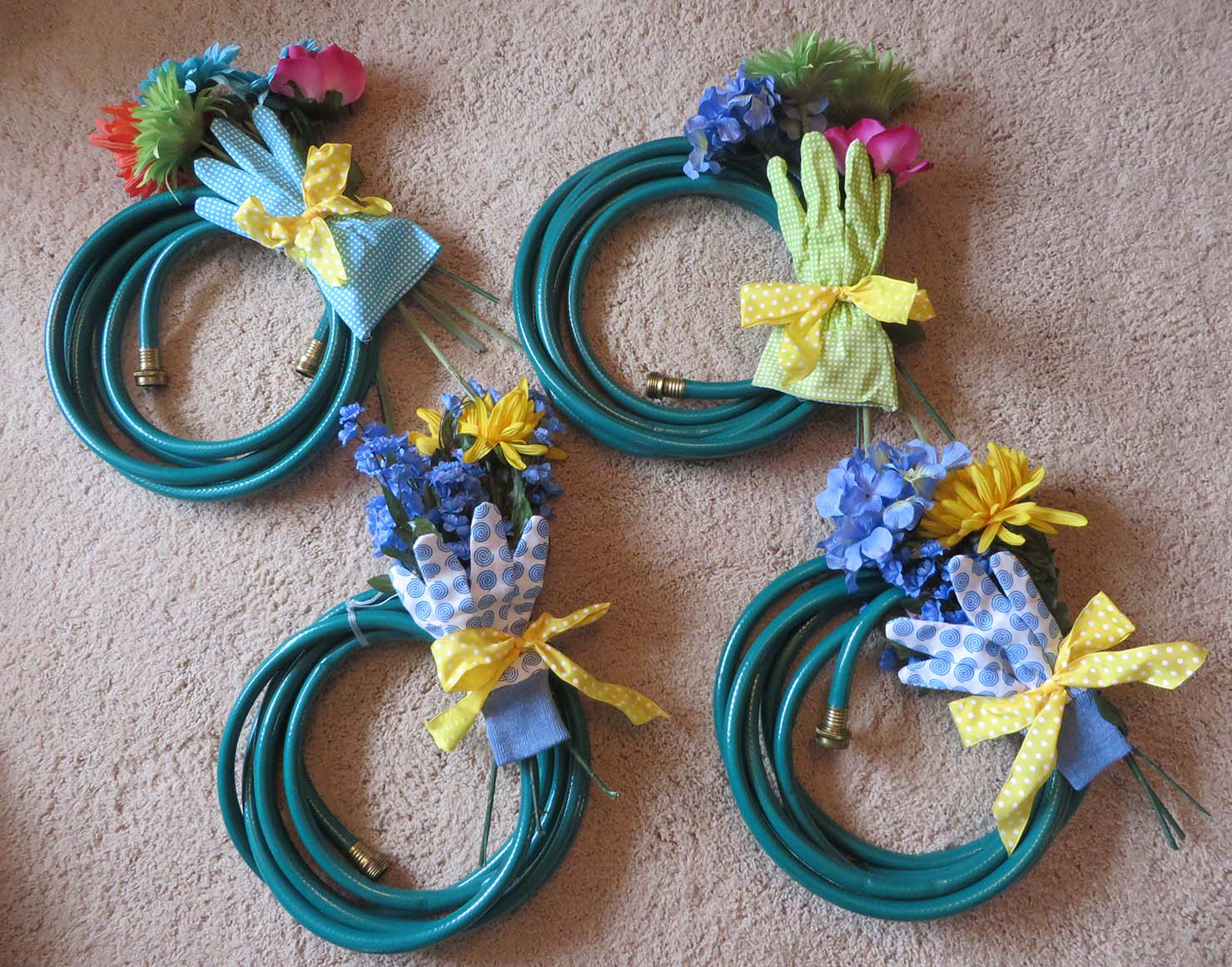 how to make a spring wreath from a garden hose