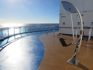 Regal Princess walking track