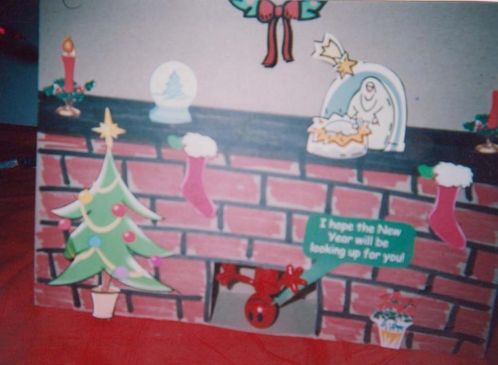Santa in the Chimney doll