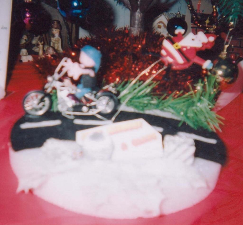 Santa on a Motorcycle doll