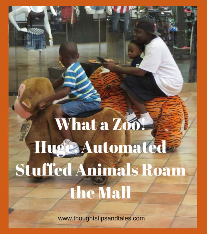 What a Zoo! Huge, Automated Stuffed Animals Roam the Mall