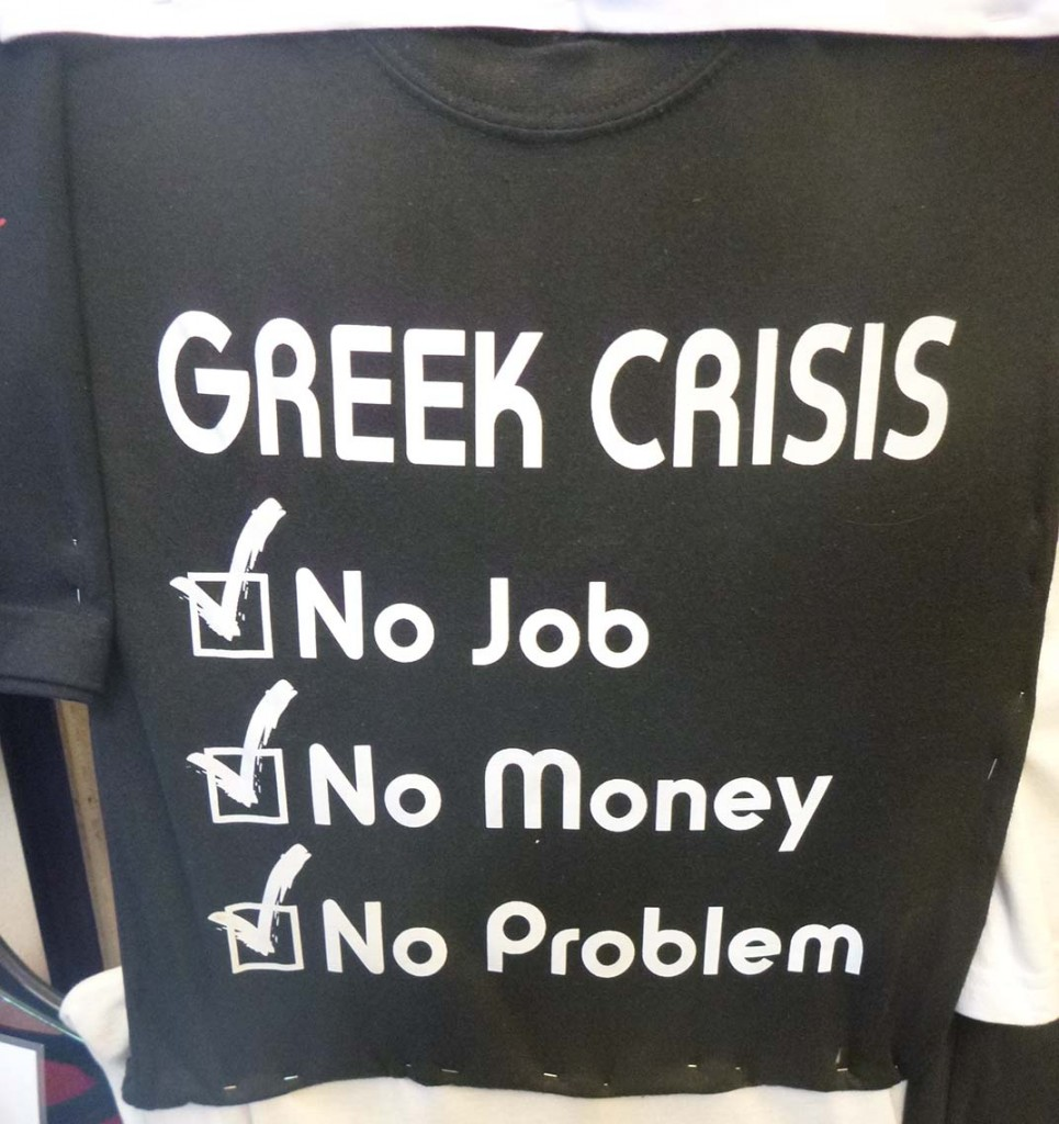 greek crisis teeshirt in athens greece