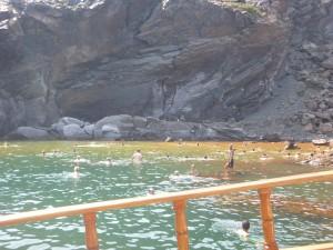 Santorini volcano springs