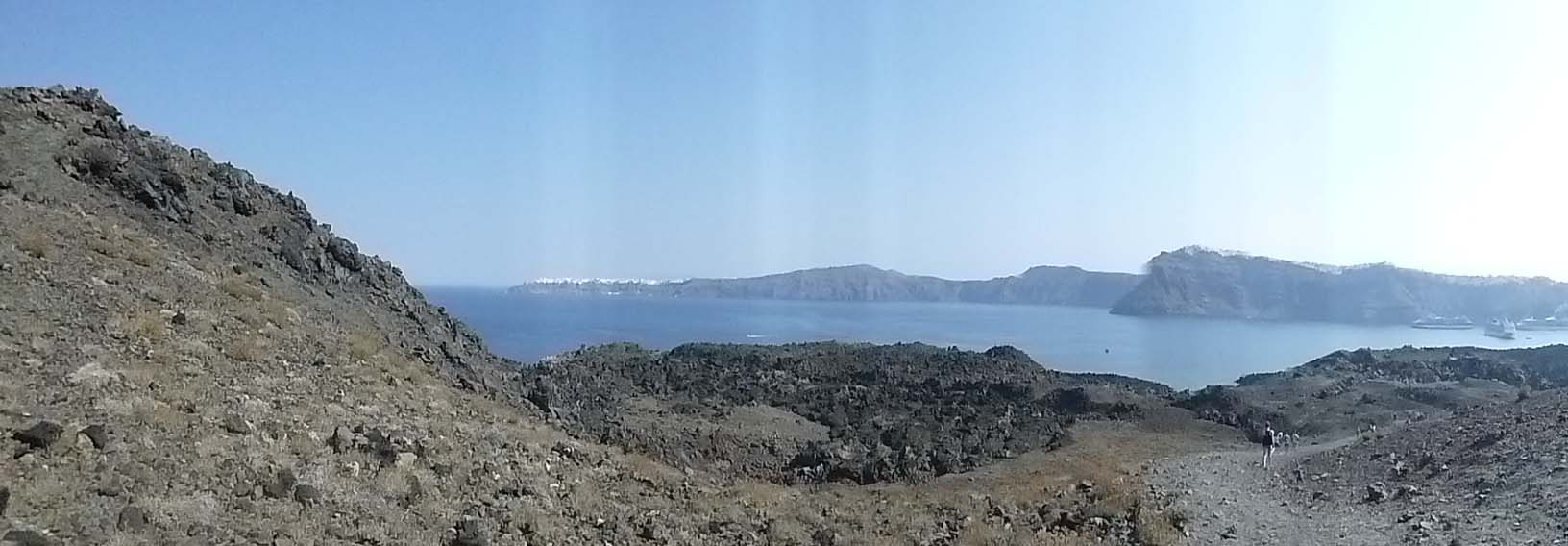 View from the Santorini volcano