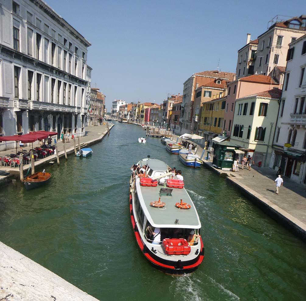 Water bus in Venice