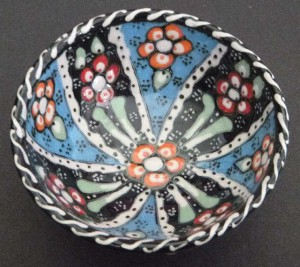 Mediterranean cruise: Greek handpainted bowl