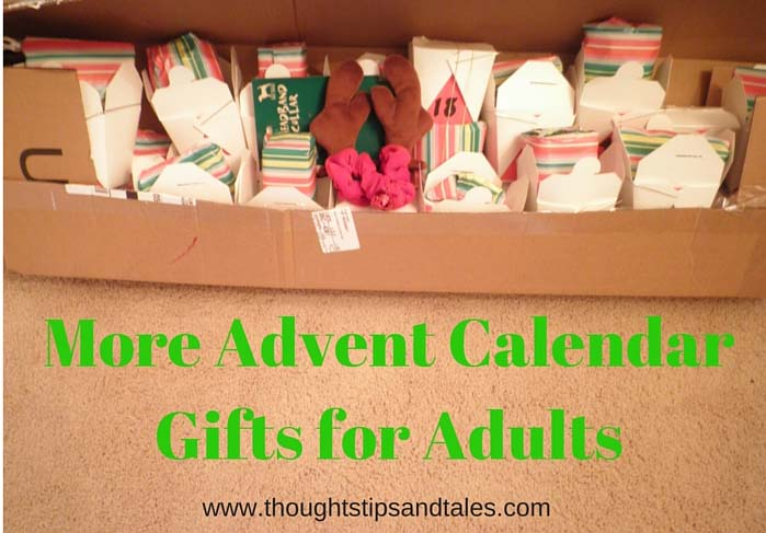 More Advent Calendar Gifts for Adults