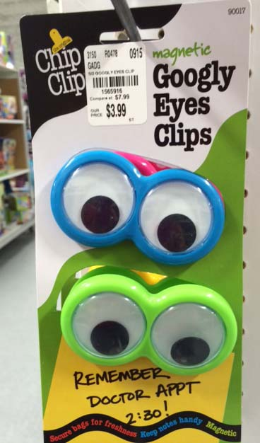 Adult advent calendar gift ideas: Googly eye bag clips