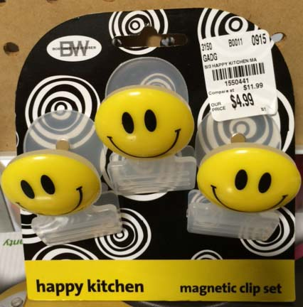 Adult advent calendar gift ideas: Happy face magnet clips